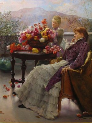 Julius Leblanc Stewart Arranging Flowers 1890