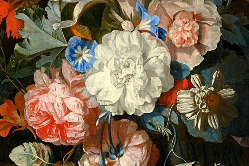 Jan-van-Huysum-Still-Life-with-Flowers,-detail-18th-century