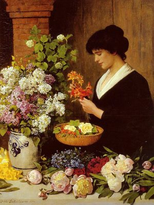 THE FLOWER ARRANGEMENT, BY OTTO SCHOLDERER JOSEPH DONAGHY~ ART